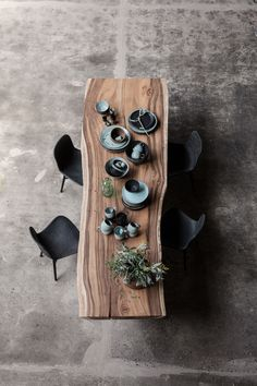 A peek at the first collection of furniture, lighting and home accessories from new Danish interior-design brand 101 Copenhagen. Dining Room Furniture, Dining Room Table, Furniture Design, Dining Room Feature Wall, Dining Chairs, Wooden Dining Tables, Custom Furniture, Furniture Ideas, Danish Interior Design