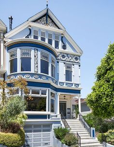 Love the bay windows on the upper and lower levels!  ~D 100s of Different Victorian Homes http://www.pinterest.com/njestates1/victorian-homes/ Thanks To http://www.NJEstates.net/)