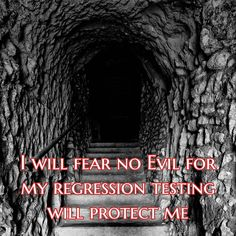 I will fear no Evil for my regression testing will protect me
