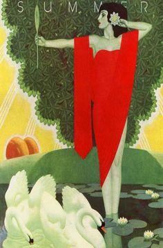 — artdecoblog:   William Welsh, Summer, 1931
