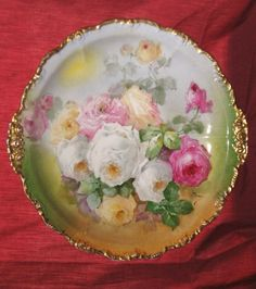 Exquisite Antique Limoges Large Plaque or Charger, Signed By Duval, Well-Listed Artist