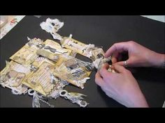 Junk Journal Embellishments Sewing Theme - YouTube