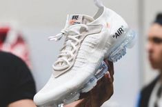 New Images Of The Off-White x Nike Air VaporMax White        Virgil Abloh and Nike are expected to release two more colorways of the Off-White x Nike Air VaporMax in 2018. After giving you some on-feet sh... http://drwong.live/sneakers/off-white-x-nike-air-vapormax-white-new-images/ Sneakers Fashion, Sneakers Nike, Nike Shoes, Fashion Shoes, Baskets, Neue Sneaker, Nike Air Vapormax, White Nikes, Virgil Abloh