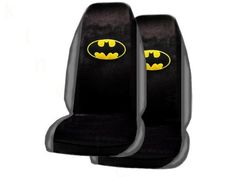 $24.95-$39.95 Baby A Set of 2 Universal Fit Batman Seat Covers - This BDK seat cover is made from 100% Polyester material, and is designed to fit most high and low-backed bucket seats.  It can be installed over or under the headrest on vehicles with removable headrests, and some vehicles with armrests may need to have them removed and reinstalled for a semi-custom fit.  This seatcover comes with ...