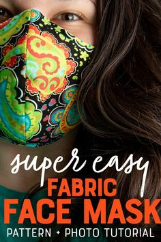 The pattern for these fabric face masks is so simple, even the most novice of sewists can make them. The pattern for these fabric face masks is so simple, even the most novice of sewists can make them. Easy Face Masks, Homemade Face Masks, Diy Face Mask, Sewing Hacks, Sewing Tutorials, Sewing Projects, Dress Tutorials, Sewing Tips, Sewing Ideas