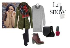 """""""Coziness"""" by gabriela-kiteva on Polyvore featuring Kenzo, Madewell, Black Rivet, Dr. Martens, MANGO and OPI"""