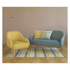 MOMO Yellow textured woven fabric armchair | Buy now at Habitat UK