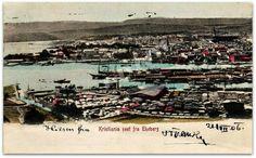 Kristiania sett fra Ekeberg postet 1906