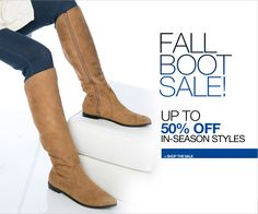 Fall Boot Sale! Get up to 50% off in-season styles at #JessicaLondon