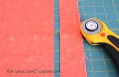 How to sharpen rotary cutter blades.