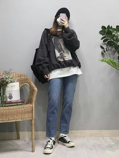 25+ Korean style 2020 temukan gayamu dan buat semua pandangan tertuju padamu – dailyElhana Korean Girl Fashion, Korean Street Fashion, Ulzzang Fashion, Korea Fashion, Asian Fashion, K Fashion, Fashion Outfits, Fashion Tips, Korean Outfits