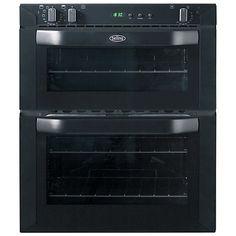 Buy Belling BI70FP Built-Under Double Oven, Black Online at johnlewis.com