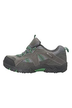 Mountain Warehouse Stampede Kinder wasserdichte Wanderschuhe Sportlich Velour Griffige Sohle bequem Grün 33 - http://on-line-kaufen.de/mountain-warehouse/33-mountain-warehouse-stampede-kinder-sportlich