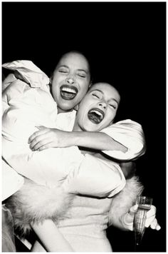 Christy Turlington and Kate Moss in Los Angeles, 1994.