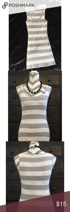 b535d62e843cc Arden B sweater tank top Arden B striped sweater tank with metallic sparkle  in grey stripes