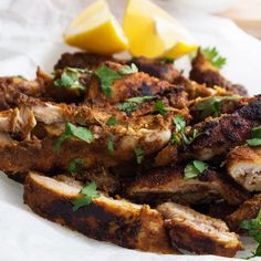 Oven Roasted Chicken Shawarma. A delicious homemade version of the famous Middle Eastern dish. Big on flavour and minimal on effort. #recipe #dinner #healthy
