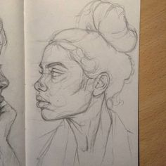 bleistiftzeichnung Sometimes I redraw some portraits to study the proportions and see my mistakes. I think it's the best way to improve your technique! Pencil Art Drawings, Art Drawings Sketches, Cute Drawings, Drawing Drawing, Stitch Tumblr, Arte Sketchbook, Sketch Painting, Love Art, Art Inspo