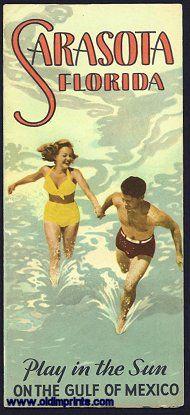 Vintage Sarasota, Florida poster