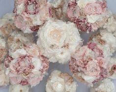 Tela personalizadas boda ramo de la flor con diamantes por Cultivar