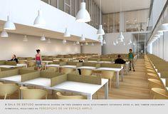 Prêmio Secil Universidades – Arquitetura: Centro Multifuncional e Residência de Estudantes  / Simão Silveira Botelho,Sala de Estudo 24 horas
