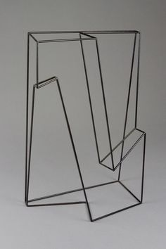 morgan shimeld /Co-linear 1, 2011 Mild steel, powder coated. 55 x 44 x 20