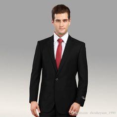 New Design custom Black Groom Tuxedos Best man Suit wedding Party ...