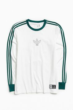 Shop adidas Club Long Sleeve Tee at Urban Outfitters today. We carry all the latest styles, colors and brands for you to choose from right here. Adidas Long Sleeve Shirt, Long Sleeve Shirts, Addidas Shirts, Best Mens T Shirts, Look Adidas, Skater Girl Outfits, Adidas Outfit, Mens Clothing Styles, Mens Sweatshirts