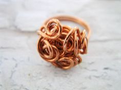 Wire wrapped ring Copper ring Wire ring Copper jewelry