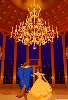 Belle and Beast entering the ballroom....i guess i'm recomposing my stickerbook of Beauty and the Beast