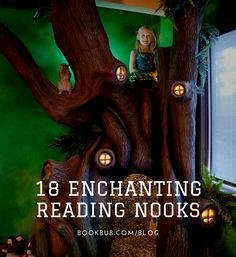 Bring a piece of a fairy tale into your home by creating a reading nook like one of these.  #books #readingnook #kidsroom Reading Nook Kids, Library Inspiration, Word Nerd, Any Book, Inner Child, Book Nooks, Dream Decor, Kidsroom, Great Books