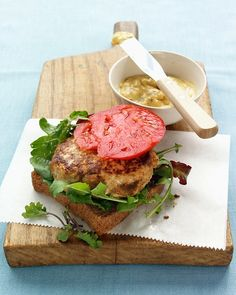 These are so good!  Martha Stewart's Turkey Burgers with Mango Chutney!  So yummy for summertime grilling!