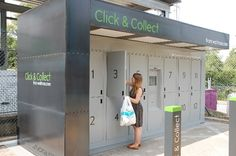 Online deliveries continue to grow, but alternative methods are still to break through Click & Collect, Grande Distribution, Digital Retail, Commercial Furniture, Store Windows, Retail Shop, Trials, Ecommerce, Lockers
