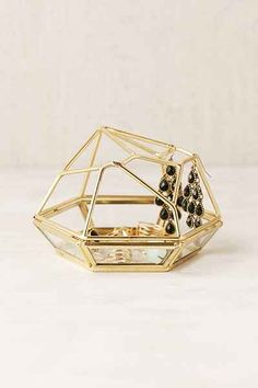 Shop Magical Thinking Open Gem Box at Urban Outfitters today. Shoe Storage Hacks, Storage Room Organization, Diy Garage Storage, Storage Boxes, Storage Ideas, Jewelry Dish, Jewelry Stand, Jewellery Storage, Small Storage Bench