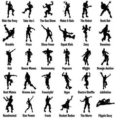 more information - fortnite dance moves names