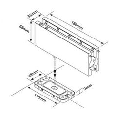 Image result for hydraulic patch for glass doors detail  sc 1 st  Pinterest & Image result for door patch for glass doors detail | Frameless ... pezcame.com