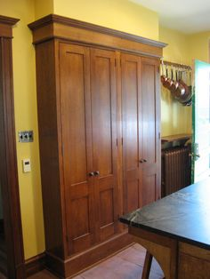 Cool freestanding pantry in Kitchen Eclectic with Narrow Pantry next to Shallowu2026 & Free Standing Pantry-Just what I was looking for 72 high x 44 wide x ...