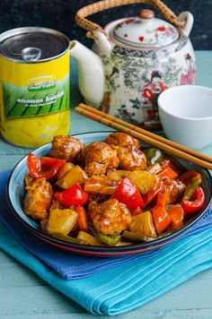 Chinese Food, Salads, Pork, Food And Drink, Chicken, Cooking, Ethnic Recipes, Kitchen, Mariana
