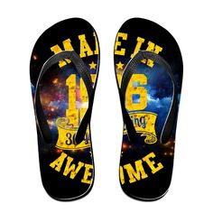 Made In 1986 Awesome Unisex's Flip Flops *** Click on the image for additional details.