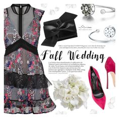 """Fall Wedding"" by totwoo ❤ liked on Polyvore featuring self-portrait, Casadei and Victoria Beckham"