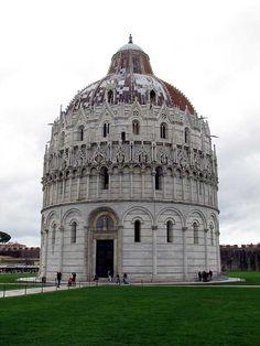 Battistero di San Giovanni (Baptistry of St. John) ~ Piazza dei Miracoli (Square of Miracles) ~ Pisa