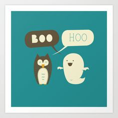 Boo Hoo Art Print by AGRIMONY // Aaron Thong - $17.00