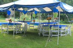 Colorful tent for an outdoor party.