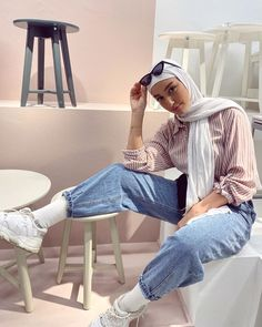 Modest Fashion Hijab, Modern Hijab Fashion, Street Hijab Fashion, Casual Hijab Outfit, Hijab Fashion Inspiration, Muslim Fashion, Mode Inspiration, Modest Outfits, Casual Outfits