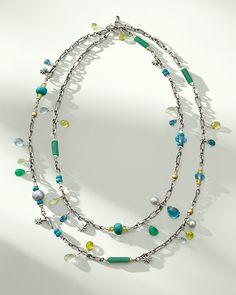 David Yurman Capri Necklace with 18k Gold