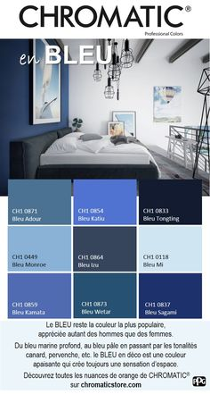 The remains the most popular color, appreciated by both men and women. BLUE in Deco # is a soothing color that always creates Source by ninilanicoise Paint Colors For Living Room, Paint Colors For Home, Bedroom Colors, House Colors, Bedroom Decor, Interior Design Living Room, Interior Decorating, Plus Populaire, Suites