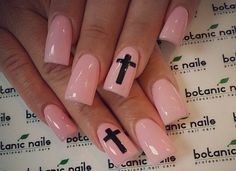 Love the color & the crosses.