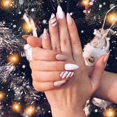most popular trendy summer nails art designs ideas to look charming 10 ~ thereds.me Nails most popular trendy summer nails art designs ideas to look charming 10 ~ thereds.me Nails Chistmas Nails, Cute Christmas Nails, Xmas Nails, Christmas Nail Designs, Holiday Nails, Christmas Holiday, Christmas Acrylic Nails, Christmas Makeup, Winter Acrylic Nails