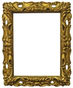 A Carved and Gilded Sansovino Style Frame, early 20th century, with cavetto sight, the pierced and swept back edge with foliate scrollwork, cartouche centres and grotesque mask corners, shaped back edge, 52x39cm - Price Estimate: £300 - £400