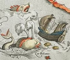 afa3c734aafe2 18 Best cartography images | Sea monsters, Carving, Illuminated ...