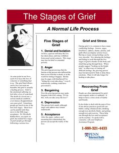 The Stages of Grief - yes, it's normal, and it's okay.